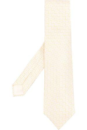 Hermès Uomo Cravatte - Cravatta con logo in seta Pre-owned