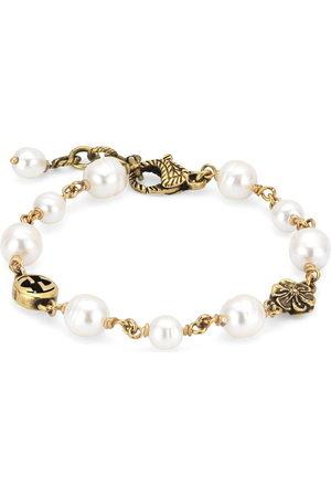 Gucci Bracciale GG con perle