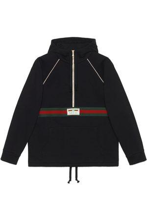 Gucci Uomo Felpe - Felpa in jersey di cotone con nastro Web