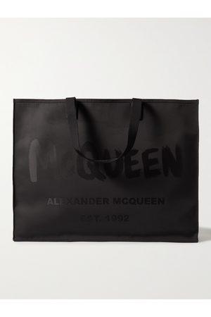 Alexander McQueen Uomo Portafogli e portamonete - Logo-Print Canvas Tote Bag