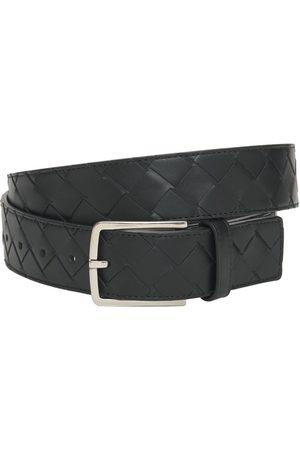 Bottega Veneta Cintura New Intreccio In Pelle Con Fibbia 3.5cm