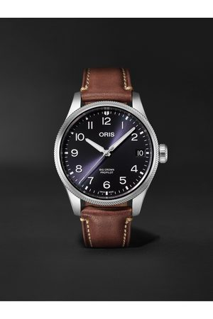 Oris Uomo Orologi - Big Crown ProPilot Big Date Automatic 41mm Stainless Steel and Leather Watch, Ref. No. 01 751 7761 4065-07 6 20 07LC