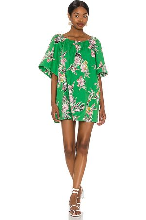 Free People Jodie Printed Tunic in - Green. Size L (also in XS, S, M, XL).
