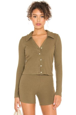 Leset Donna Cardigan - Ali Polo V Cardigan in - . Size L (also in XS, S, M).