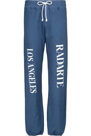 RODARTE Pantaloni sportivi in cotone con logo
