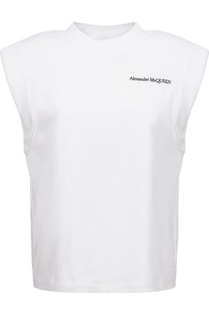 Alexander McQueen T-shirt In Jersey Di Cotone