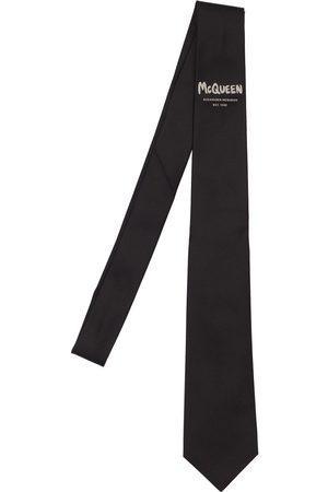 Alexander McQueen Cravatta In Seta Con Logo