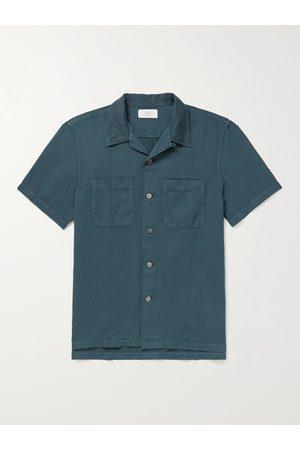 Mr P. Garment-Dyed Cotton and Linen-Blend Shirt