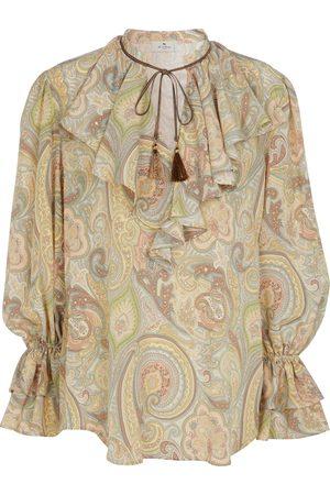 Etro Blusa in seta con stampa paisley