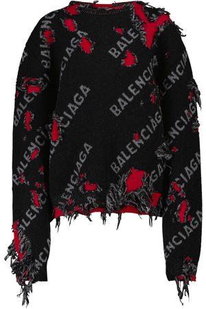 Balenciaga Pullover in jacquard di lana e cotone