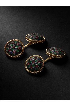 Buccellati Premium Gentlemen and Blackened Silver Multi-Stone Cufflinks