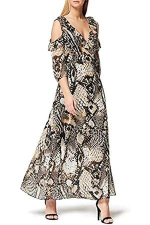 TRUTH & FABLE Marchio Amazon - Maxi Dress a Fiori Donna, , 42, Label: S