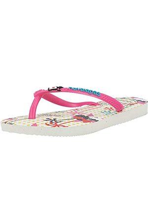 Havaianas Disney Cool, Infradito Bambina, White/Pink Flux, 31/32