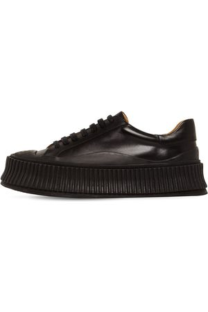 Jil Sander Sneakers In Pelle Vulcanizzata 40mm