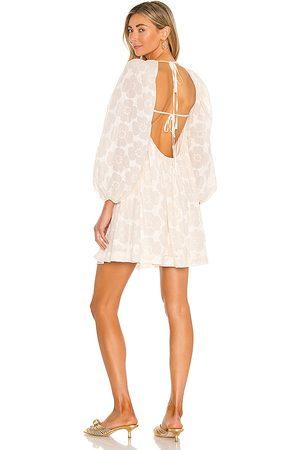 LPA Baptiste Dress in - Cream. Size L (also in XXS, XS, S, M, XL).