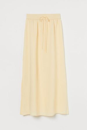 H&M Donna Gonne maxi - Gonna lunga in misto lino