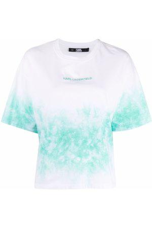 Karl Lagerfeld T-shirt con fantasia tie dye