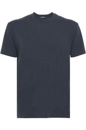 Tom Ford T-shirt In Lyocell E Jersey Di Cotone