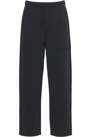 Ami Pantaloni In Felpa Di Cotone Con Logo