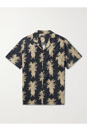 Desmond & Dempsey Cuban Camp-Collar Printed Cotton Pyjama Shirt