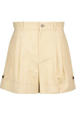Chloé Shorts in lino e cotone