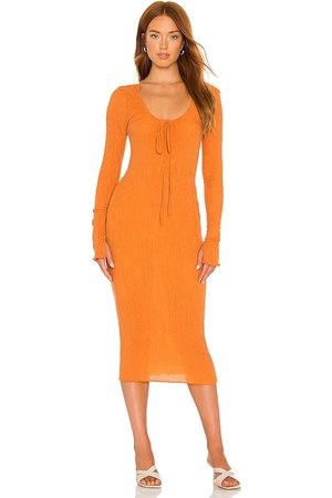 Camila Coelho Donna Vestiti longuette - Naya Midi Dress in - Orange. Size L (also in XXS, XS, S, M).