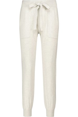 Lee Mathews Pantaloni sportivi in cotone e cashmere
