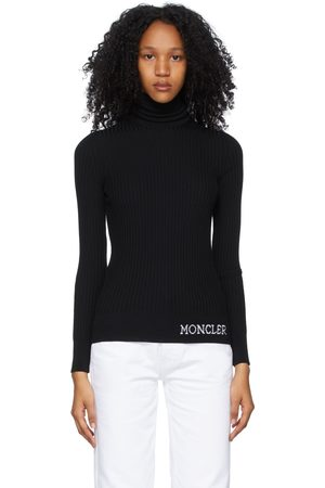 Moncler Black Wool Ribbed Turtleneck