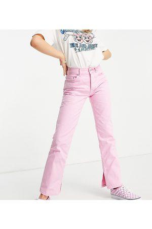 ASOS ASOS DESIGN Petite - Jeans dritti anni '90 a vita medio alta con spacchi sul fondo, colore vivo