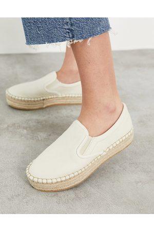 Schuh Madeline - Espadrilles flatform, colore beige-Neutro