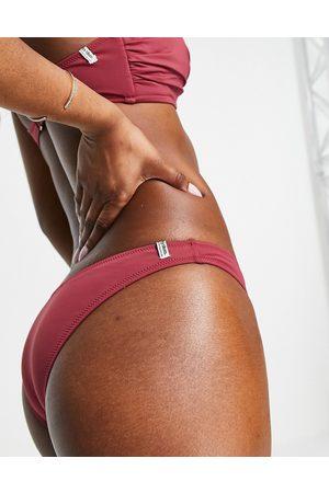 Rhythm Slip bikini sgambati color prugna