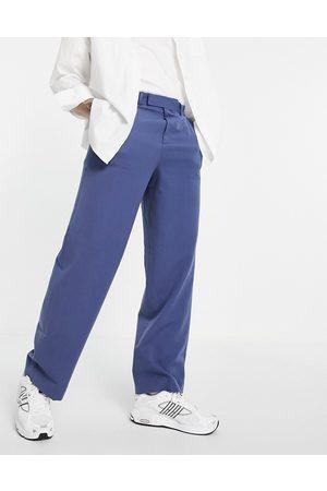 ASOS Pantaloni eleganti con fondo ampio navy