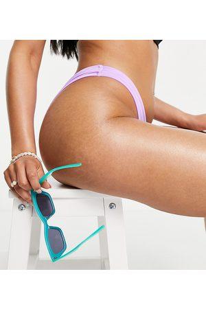 Free Society In esclusiva - Slip bikini sgambato, colore lilla metallico