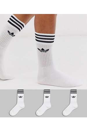 adidas Adicolor Trefoil - Confezione da 3 paia di calzini bianchi
