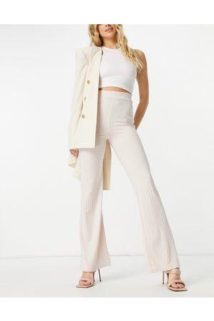 Club L Shimmer - Pantaloni a fondo ampio lucidi, colore fungo