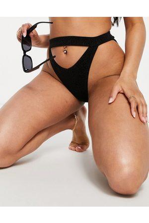 South Beach Slip bikini con cut-out glitter