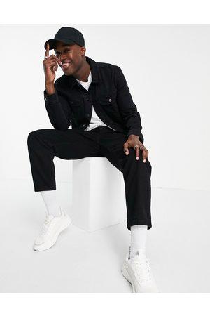 ASOS Uomo Giacche di jeans - Giacca di jeans western vestibilità classica nera
