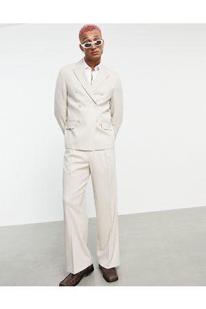 ASOS Pantaloni da abito a fondo ampio beige-Neutro