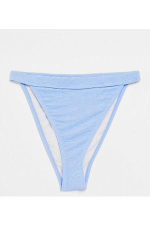 Ivory Rose Coppe Grandi - Mix and Match - Slip bikini arricciati a vita alta, colore azzurro polvere