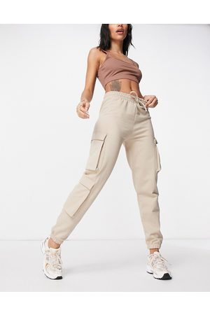 I saw it first Joggers con tasche cargo laterali color pietra