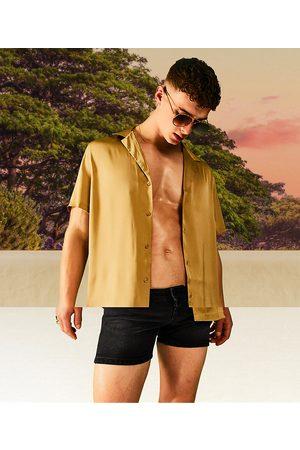 ASOS Camicia comoda in raso bronzo scuro
