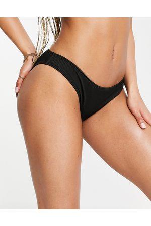 Hollister Slip bikini neri a coste