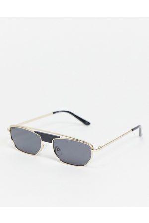 Jeepers Peepers Occhiali da sole squadrati unisex in metallo dorato