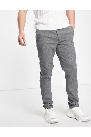 ASOS Pantaloni eleganti super skinny grigi micro testurizzati