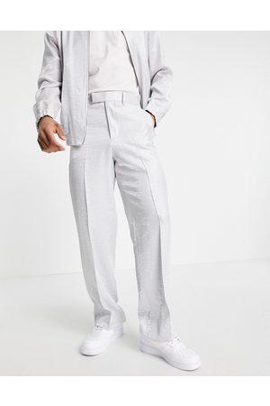 ASOS Pantaloni eleganti con fondo ampio in raso in coordinato