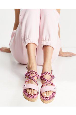 ASOS Flamingo - Espadrilles in corda mix di