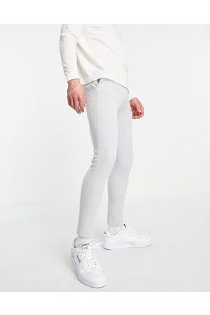 ASOS Pantaloni Oxford super skinny eleganti grigi