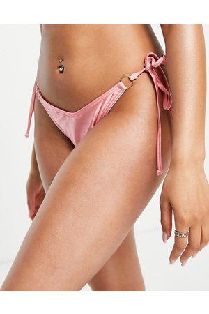 South Beach Slip bikini lucidi, colore rosa