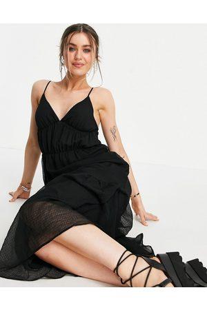 Pimkie Vestito grembiule lungo con scollo a V e spalline sottili, colore