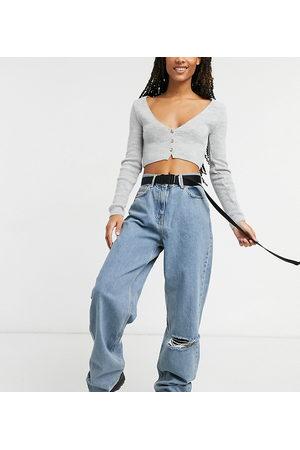 COLLUSION X014 - Dad jeans extra larghi stile anni '90 lavaggio vintage